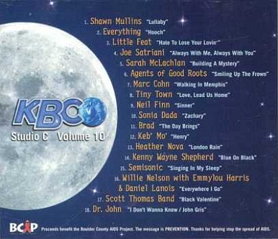 Kbco live studio c volume 10 mclachlan nelson harris for Kbco